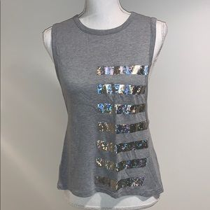 VSX Holographic Graphic Muscle Tank Top